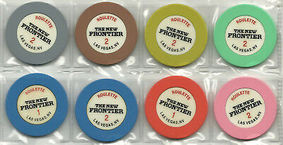 Eight Roulette Chips from the New Frontier Casino  in Las Vegas