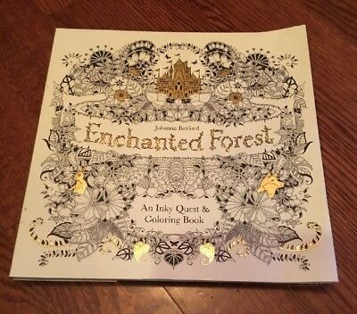 Enchanted Forest: An Inky Quest & Adult Coloring Book