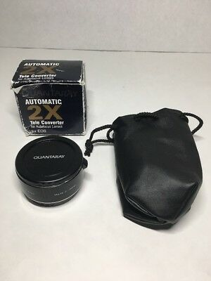 Quantaray 2X Af Teleconverter Fits Canon Eos Excellent W/ Box And Cap