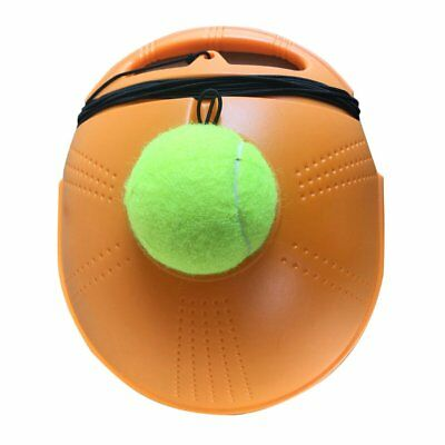 Tennis Ball Back Base Trainer Set with Long Rubber Elastic Rope Band EI