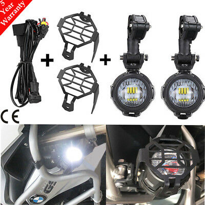 2X Motorcycle LED Headlight Front Lamp Fog Running Light for BMW R1200GS ADV 40W