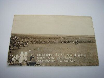 Canada WW1 CEF Military Postcard The 196th Battalion, Camp Hughes 1916