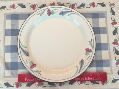 "Lenox Poppies On Blue DINNER PLATES (10 3/4"") USA Chinastone"