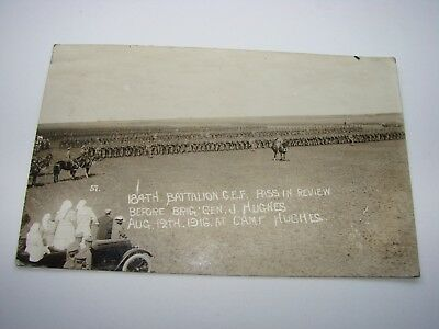 Canada WW1 CEF Military Postcard The 184th Battalion, Camp Hughes 1916