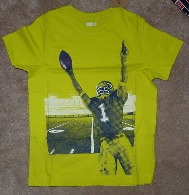 NEW CRAZY 8 EIGHT Football  Player # 1 T Shirt Youth Boys Kids 5 6 NEW NWT