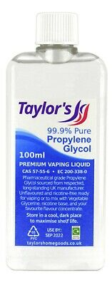 100ml Propylene Glycol (99.9% Pure) Premium Vaping Liquid PG USP