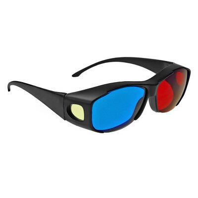 1x N-Vidia 3D-BRILLE CYAN ANAGLYPH ROT BLAU Brillen Anaglyph Glasses Kino REAL