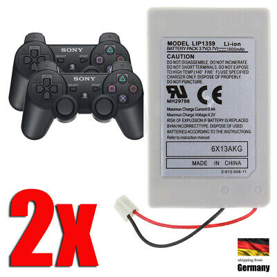 2x Akku Batterie Battery f. PlayStation 3 PS3 Controller LIP1359 LIP1472 LIP1859