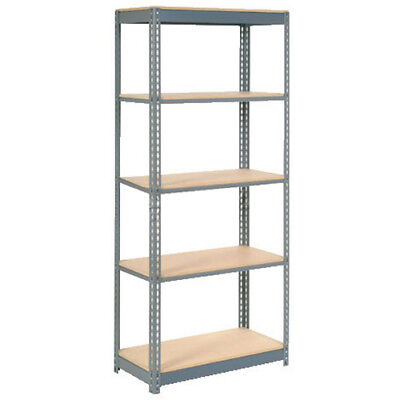 "Boltless Heavy Duty Shelving 48""W x 18""D x 72""H, 5 Shelves, Wood Deck, Lot of 1"