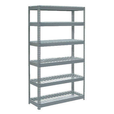 "Boltless Extra Heavy Duty Shelving 48""W x 18""D x 72""H, 6 Shelves, Wire Deck, Lot"