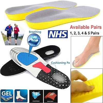 Orthotic Foot Arch Support Plantar Fasciitis Feet Heel Shoe Inserts Gel Insoles