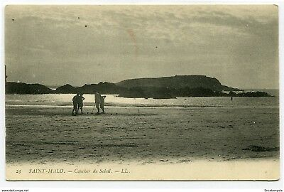 CPA-Carte postale-  France -Saint malo - Coucher de Soleil ( CP4405)