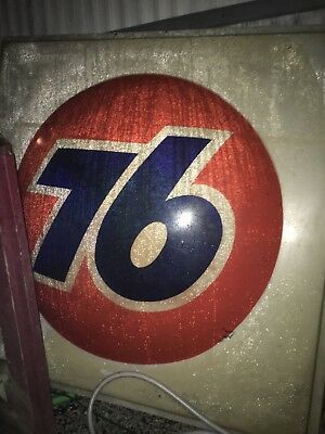 union 76 vintage sign 5 ft Wide 6 ft height good condition made of hard plastic