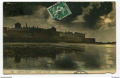 CPA-Carte postale- France -Saint Malo - Coucher de Soleil ( CP4410)