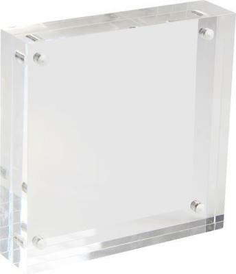 ACRYLIC FRAME BLOCK Style Freestanding Magnetic Closure 8 x 10 ...
