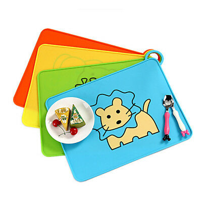 Cute Baby Kids Silicone Snack Mat Animal Theme Foldable Non Slip Food Plate Tray