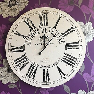 Large Round Vintage Antoine paris french station clock 60cm Large wall clock