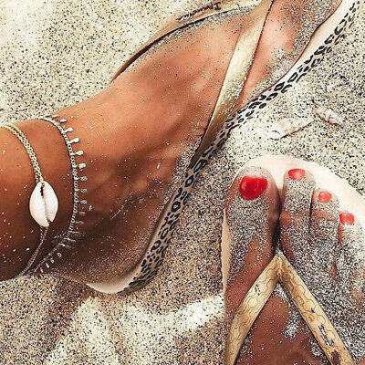 Boho Shell Multi-layer Anklets For Women Layer Anklet Leg Bracelet Jewelry Gift