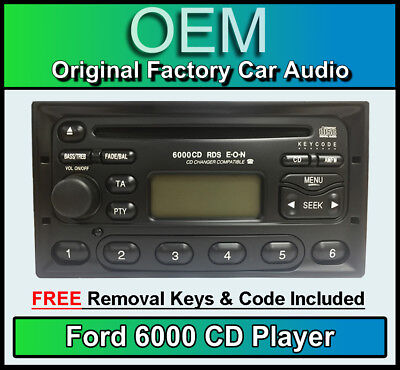 Ford Galaxy Lecteur CD, Ford 6000 Autoradio avec Clés Extraction Radio et Code