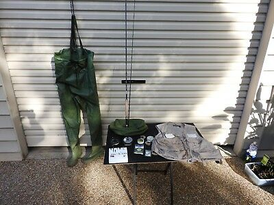 Fly Fishing Package Inc Waders, Fly Rod, Fly Reel, Flies, Hooks, Line, Fly Fishi