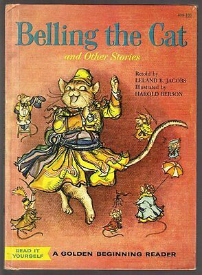 BELLING THE CAT And Other Stories ~ Vintage 1960 Golden Book Hardcover