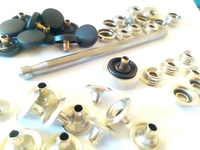 15 mm Plastic Cap Poppers Snap Fasteners Press Studs or DIY Kit tools & Poppers