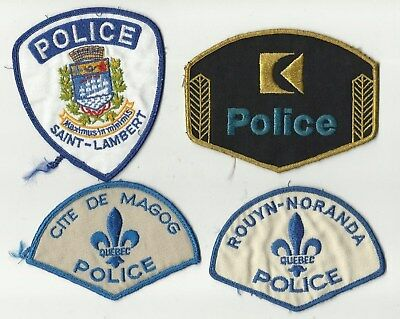 Rouyn / Magog / St-Lambert / Canadian Pacific (QUEBEC) Police Patches (USED)
