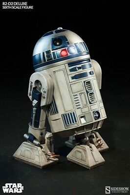 Sideshow Collectibles Star Wars Sixth 1/6 Scale R2-D2 Deluxe Figure Lighted Leia