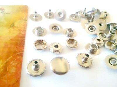 Line 20 Snaps Nickel Plated  Buttons Fasteners Leathercraft Tandy 1261-02 / K23