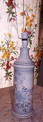 Jersey Pottery Tall Retro Table Lamp Hand-Painted with Original Label