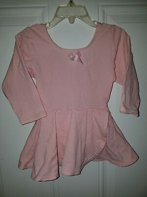Jacques Moret Girls Dance Leo With Attached Skirt Size Extra Small 4/5 Pink