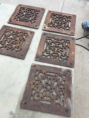 """VE five V price separate antique cast-iron heating great face 7 7/8 x 8"""""""