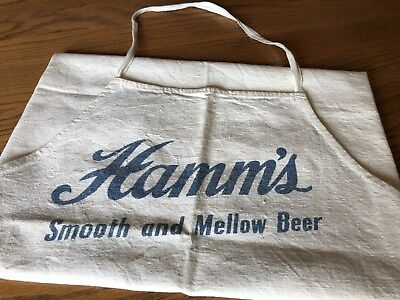 "Vintage 50's Hamm's ""Smooth and Mellow"" beer, canvas BBQ apron, Unused Nice!"