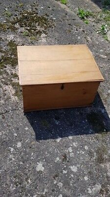 Lovely Old Antique Pine Victorian Chest - Blanket Box