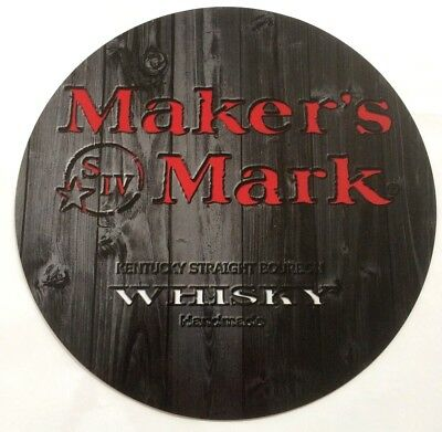 "Maker's Mark Whisky 7"" Diameter Aluminum Sign"