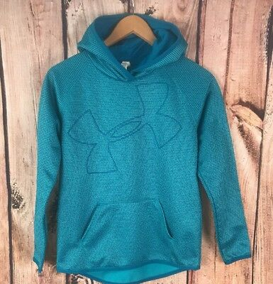 Under Armour Cold Gear Loose - Boy's Hoodie Hooded Sweatshirt sz L YLG Blue