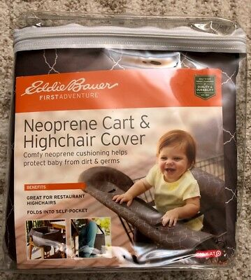NEW Eddie Bauer Neoprene Shopping Cart And Highchair Cover Baby Protection