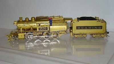 HO Scale Overland Brass 18sb 2-8-0 Camelback Steam Locomotive #1530 w/box runs