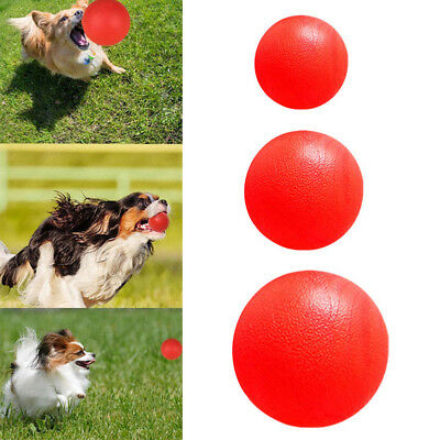 Unbreakable Solid Rubber Ball Pet Dog Toy Training Playing Fetch Bite Toys