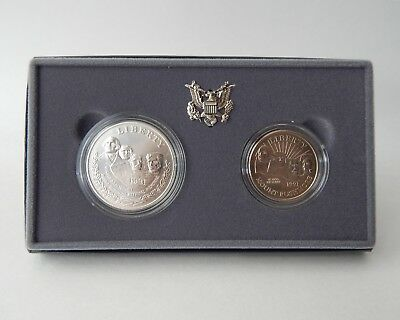 1991 Mount Rushmore Two Silver Coin Set with Case and Certificate