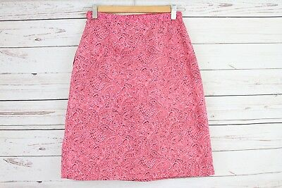 Girls Vintage Made in Japan Resin-Finish Pink Floral Skirt Size 11-12