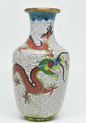 Antique Chinese Cloisonne Vase  ~ 6.5 Inches Tall ~