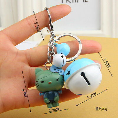 Mini Ghosts Hello kitty Key chain Modelling of the zombie Bell key chain Toy 04