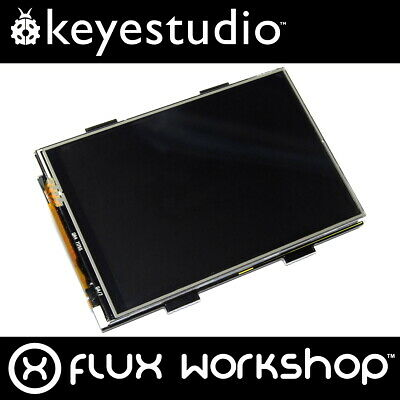 "Keyestudio TFT Touch Colour LCD Raspberry Pi Shield KS0214 3.5"" B+ Flux Workshop"