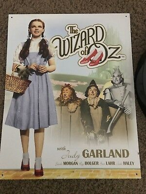 Wizard Of Oz Clock And Metal Sign