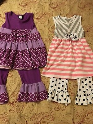 Girls Boutique Lot Capris Size 7-8 Sparkle In Pink