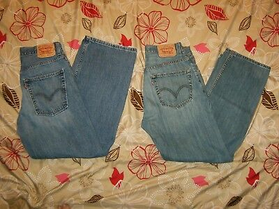 Levi's 569 Loose Straight Leg Fit Jeans Size 32 x 32
