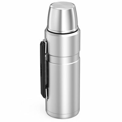 Thermos SK2010STTRI4 Stainless King Vacuum-Insulated Beverage Bottle, 40 oz, Sil