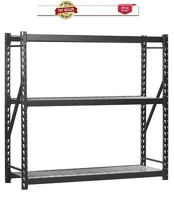 72-in H x 96-in W x 30-in D 3-Tier Steel Freestanding Shelving w/ Wire shelves