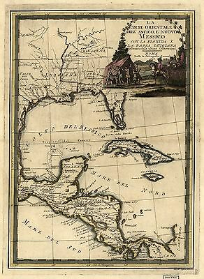 12x18 inch Reprint of Mexican Map Mexico